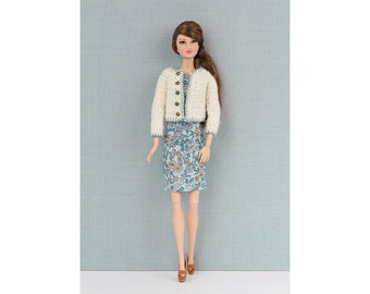 Cardigan for Barbie and Poppy Parker. 14 colors tu choose.