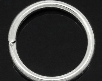 50PCs Silver Plated Open Jump Rings 18.0mm Dia. Findings