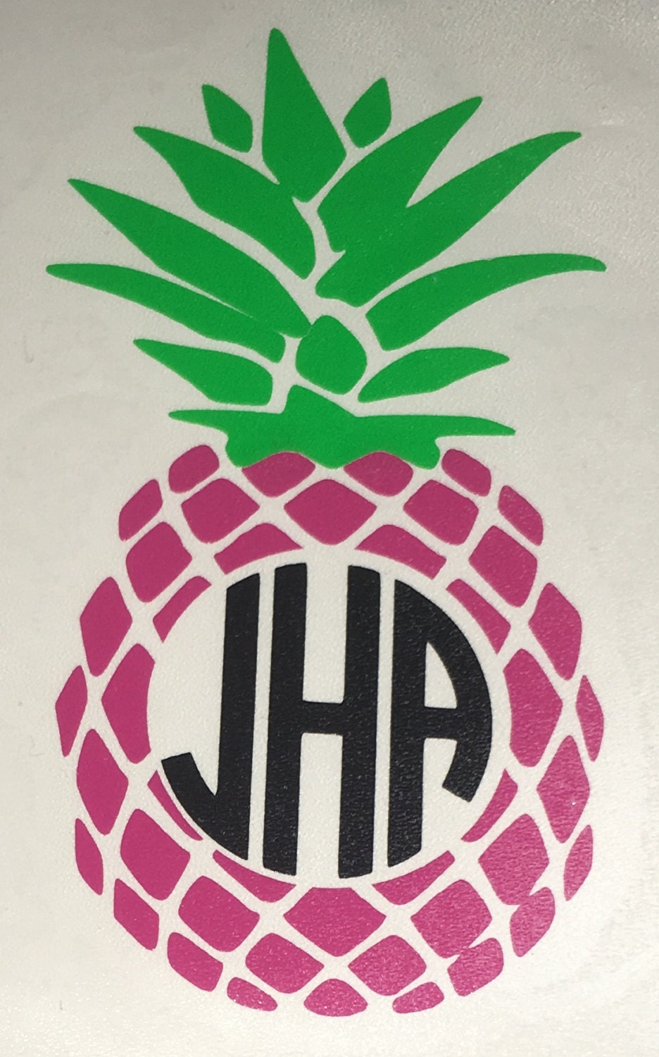 pineapple with monogram decal for yeti tumbler cups ice