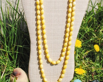 Buttercream Yellow Bead Necklace