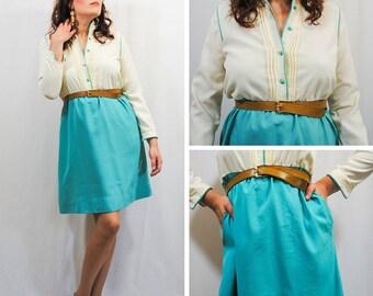 Blue and White Folk Dress