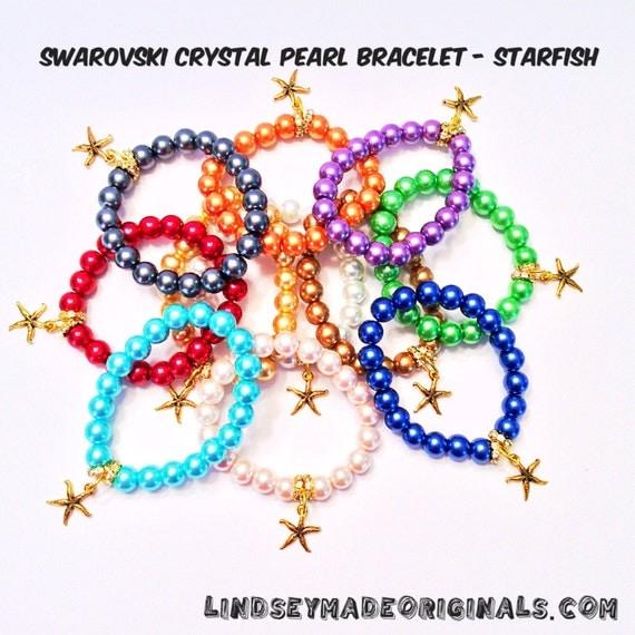 SWAROVSKI CRYSTAL PEARL Bracelet Starfish
