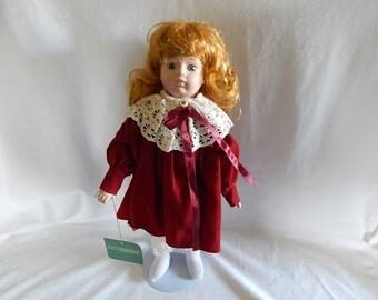 Vintage Studio 5 Signature Collection Christmas Porcelain Doll