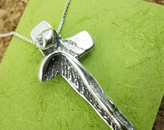 I Am With You Always Sterling Silver Cross Necklace - Crucifix Necklace