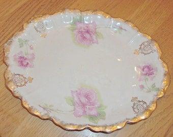 Antique DRESDEN China Platter