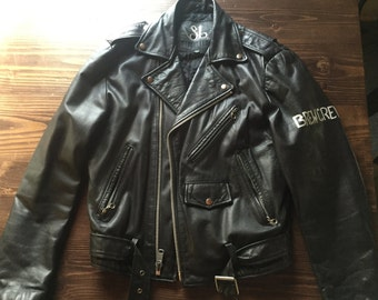 Punk Rock/Horror Punk Painted Leather Jacket