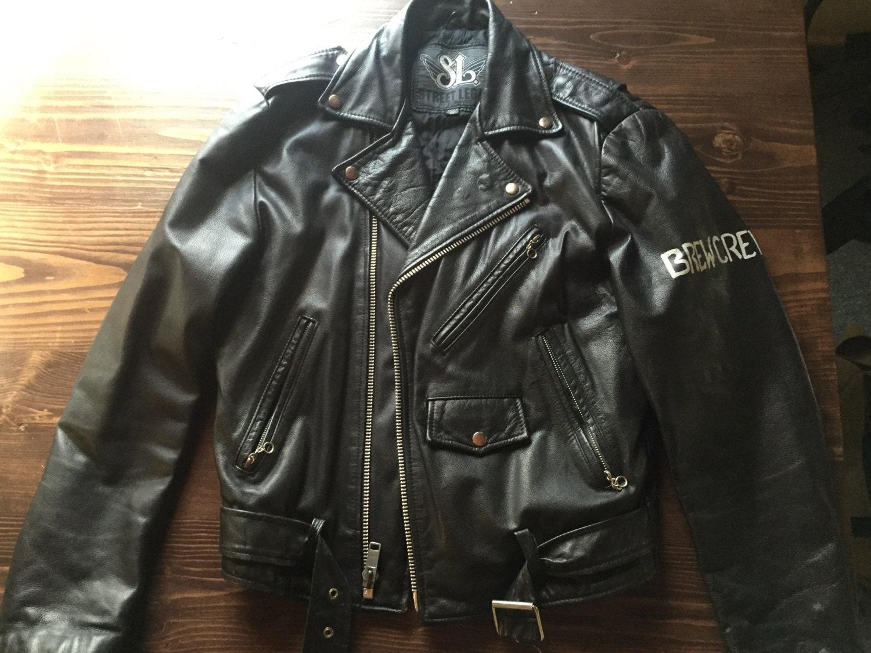 Leather jacket punk - Punk Rock Horror Punk Painted Leather Jacket