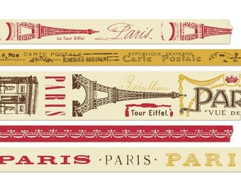 Vintage Look Paris Decorative Paper Tape by Cavallini & Co French Ephemera