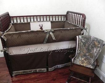 Custom Baby Crib Bedding Set Clay Boy Baby Bedding Camo - Baby boy deer crib bedding sets
