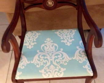 Rare Antique wood chair made by  W&J Sloanne in NY