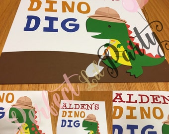 Dinosaur birthday signs, dino birthday decorations, dinosaur party decorations, dinosaur signs, dinosaurs
