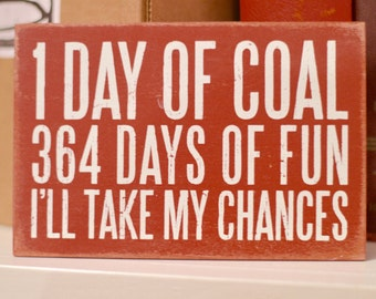 1 Day of Coal Wooden Postcard