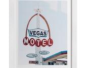 Vegas Motel Print, Las Vegas Art, Old Vegas Art Print, Mid Century Wall Art, Las Vegas Gift, Retro Wall Art, Vegas Photography
