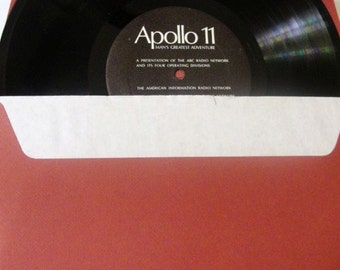 Apollo II Mans's Greatest Adventure Hard Cover Book with Slip Cover &  Record. Very Good Condition!