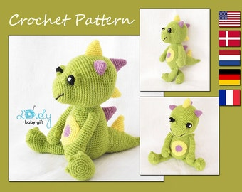 Amigurumi Pattern, Dragon, Crochet Pattern, CP-126
