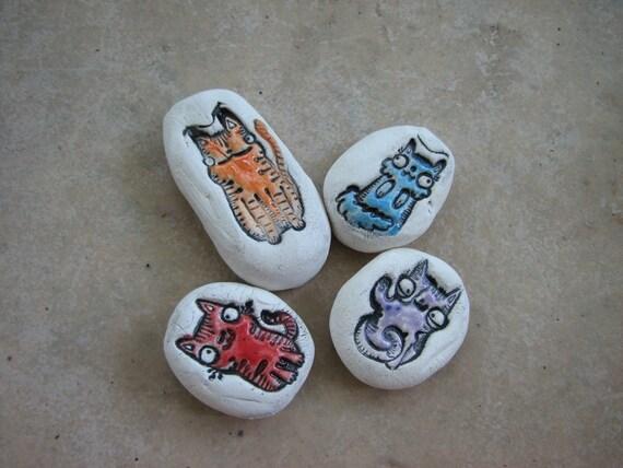 cats essential oils diffuser stones set kitty ceramic. Black Bedroom Furniture Sets. Home Design Ideas