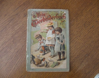 Vintage German Children's Book - Illustrated