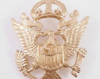 St John Brooch Bald Eagle E Pluribus Unum 1970's