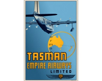 Tasman Empire Airways #2 - Vintage Airline Travel Poster