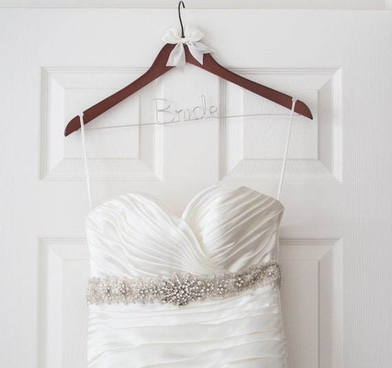 Items similar to bride hanger wedding hanger mrs for Mrs hangers wedding dress