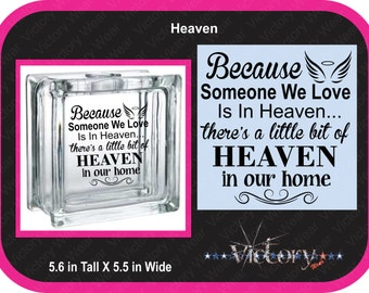 Because Someone We Love is in Heaven DOWNLOAD File Only  .CDR .SVG