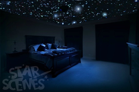 home theater ceiling star decals glow in the dark stars for