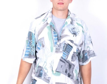 Haupt Mens XL Casual Shirt Short Sleeve Vintage 90's