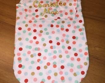 Personalized Diaper Wipe Clutch