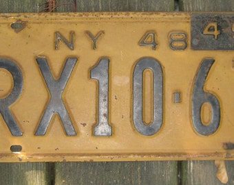 1948-49 New York State License Plate