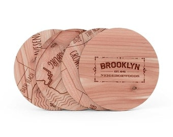 Brooklyn Map Coaster Set