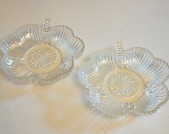 Vintage Glass Decorative Bowls -Set of Two