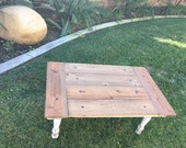 Country kitchen style, Rustic/Farmhouse Barndoor Coffee Table, reclaimed wood, distressed wood, solid wood, rustic decor