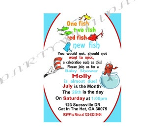 Dr SUESS Baby Shower Invitation
