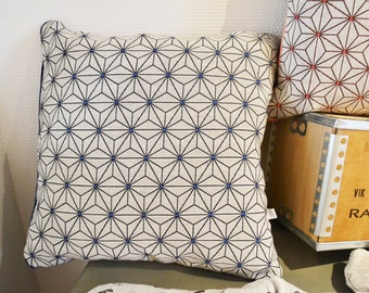 Cushion removable blue grid