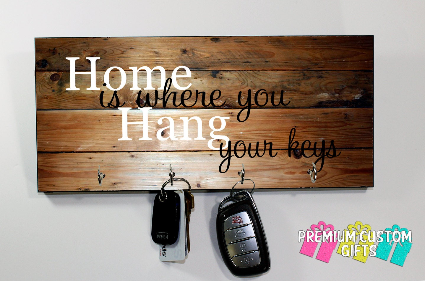 Wood Key Holder For Wall Home Is Where You Hang Your