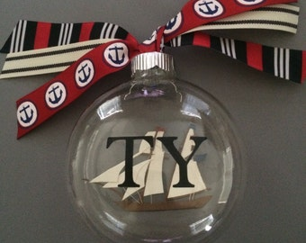 Personalized Sailboat Ornament-Sailing Ornament-Personalized Gift