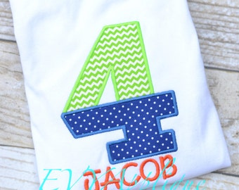 Boys 1st, 2nd, 3rd, 4th, 5th, 6th Birthday shirt - Personalized, Custom Birthday Shirt with Split Number Design - CHOOSE YOUR FABRICS!