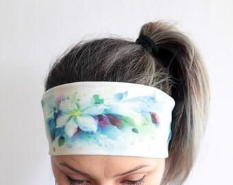 Yoga Headband - Workout Headband - Fitness Headband - Running Headband Boho Headband - Elastic Headband - Flowers Headband Y42