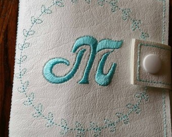 Mirror compact,  personalized,  embroidered,  customized,  beautiful