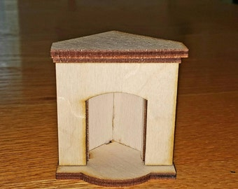 Small Corner Fireplace miniature dollhouse furniture