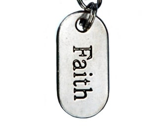 Faith Pendant Purse Charm or Zipper Pull