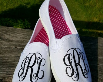 Glitter Monogram Canvas Slip-on Shoes