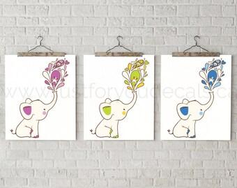 Elephant Nursery Poster, Nursery Wall Art, Elephant Poster, Nursery Elephant Poster, Animal Poster, Elephant Wall Art, Elephant - 26-0004