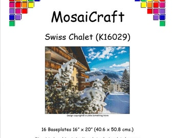 MosaiCraft Pixel Craft Mosaic Art Kit 'Swiss Chalet' (Like Mini Mosaic and Paint by Numbers)
