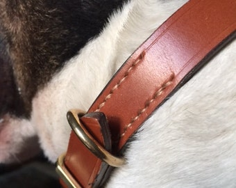 Simple bridle leather collar