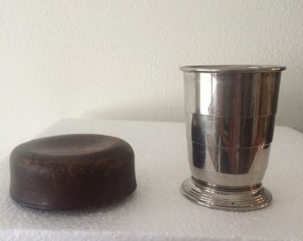 Collapsible Cup with Traveling Leather Case