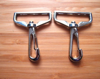 Metal Purse Hooks - Swivel Snap Style -  1.5 inch / 38mm Silver Nickel / Antique Brass -   Bag and Strap Hardware