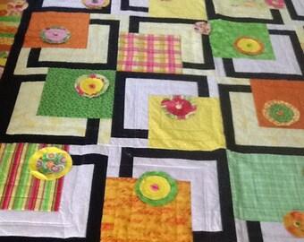Geometric Flower Garden Quilt