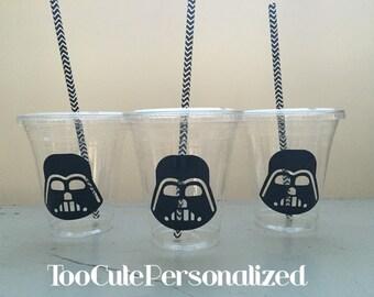25 Plastic Darth Vader Party Cups-12 oz