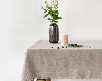 Natural Stone Washed Linen Tablecloth